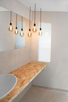 kitchen and bath Waschbecken von OSB Improve your Home by Building a Deck Learning about building de Bad Inspiration, Bathroom Inspiration, Modern Bathroom, Small Bathroom, Master Bathrooms, Küchen Design, House Design, Osb Wood, Ethnic Decor