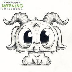 63 ideas cute art drawings weird for 2019 Cute Monsters Drawings, Weird Drawings, Cute Animal Drawings, Cool Art Drawings, Pencil Art Drawings, Kawaii Drawings, Doodle Drawings, Art Drawings Sketches, Easy Drawings