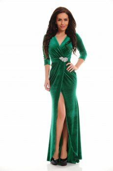 Rochie LaDonna Wild Seduction Green Formal Dresses, Velvet Dresses, Green, Clothes, Fashion, Dresses For Formal, Outfits, Moda, Clothing