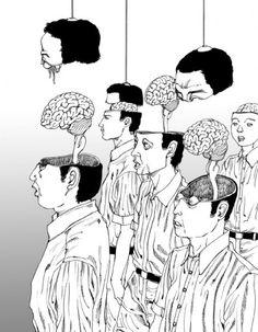 A heaven and an underground Horror series Shintaro Kago manga Akira Toriyama Retro VintageDecorative Wall Art Home Posters Decor Art And Illustration, Character Illustration, Illustrations Posters, Japanese Illustration, Comic Kunst, Comic Art, Lotus Artwork, Art Deco Wedding Decor, Protest Posters