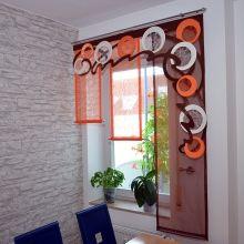 Ribbon Curtain, Curtain Trim, Custom Curtains, Drapes Curtains, Valances, Curtain Patterns, Curtain Designs, Modern Kitchen Curtains, Strip Curtains