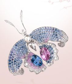Orchidée Bleue Butterfly clip, High Jewelry collection Papillons, Van Cleef & Arpels
