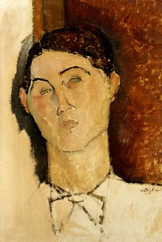 Modigliani: Conrad Moricand (peut-être) (1916) for more Amedeo Modigliani oil paintings please visit http://www.painting-in-oil.com/artworks-Modigliani-Amedeo.html