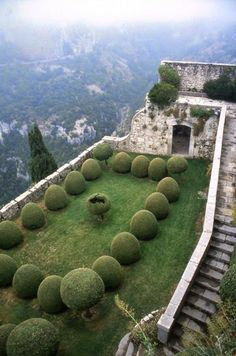 Chateau De Gourdon, France | Backyards