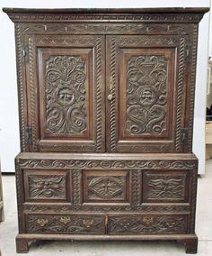 Antique English Renaissance Cabinet | Antique Cabinets | Inessa Stewart's Antiques