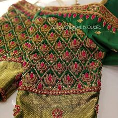 Embroidery work blouse . . . . . . . .#southindianfashion #embroideryblouse#blousefashion#kancheevaramsarees#silksarees#latesttrends#aariwork#handembroidery#traditionalblouse#designerblouses#silkblouseembroidery #sleevesdesign