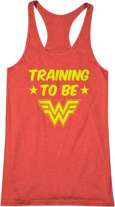 Training to be Wonder Woman Workout Tank Top Comic Book by FITUMI