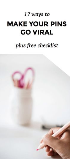 https://social-media-strategy-template.blogspot.com/ Make Your Pins Go Viral | Learn 17 ways to improve your pins and get the most out of pinterest so you can get tons of traffic to your blog or website. This is especially useful for small business owners or blogging beginners who what to get their name out there. Follow these easy steps to grow your traffic. Click through to read more. There's also a free checklist, yo!