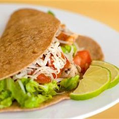 Lime Chicken Soft Tacos--ive made these a few times...they are sooooo good!
