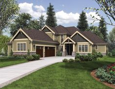 Bellevue House Plan 06112 Front Elevation Craftsman Style House Plans Mountain Style House