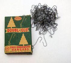 Vintage DOUBL-GLO Christmas Tree Ornament Hangers Hooks In Original Box