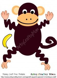 Monkey Template - Animal Templates | Pinterest | Animal templates ...