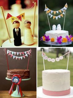 Wedding Cakes with Mini Bunting & Flags. Wedding Cake Bunting, Mini Bunting, Bunting Flags, Wedding Cake Toppers, Wedding Cakes, Photo Bunting, Bunting Ideas, Cupcake Toppers, Wedding Trends