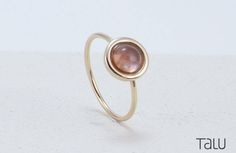 Stone Gold Ring, Pink Tourmaline, Unique Color, Coloured Gemstone, 14k Solid Gold, Engagement ring, Special Gift, Stone Ring, Coloured Stone by TALUrockngold on Etsy