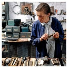 #ThrowbackThursday Louise Bourgeois in her home studio, 1974. © The Easton Foundation/Licensed by VAGA, New York. Photo: Mark Setteducati #louisebourgeois #diaartfoundation