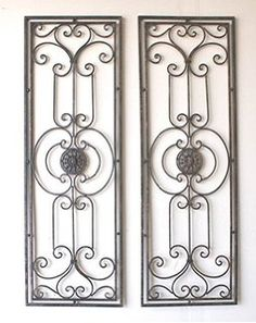 wrought iron wall decor rectangle - Google Search