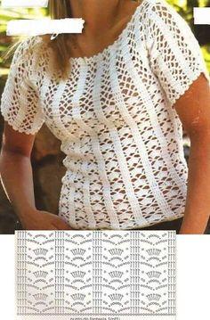Lindas blusas de Crôche, com graficos