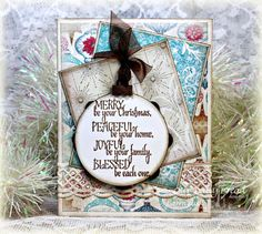 Stamps - Our Daily Bread Designs His Birth, ODBD Custom Beautiful Borders Dies, ODBD Custom Circle Ornaments Die, ODBD Winter Paper Collection 2014, ODBD Christmas Paper Collection 2014, ODBD Custom Flourished Star Pattern Die