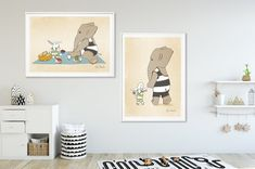 Nursery Wall Art Prints Posters Animal Illustrations by GiGiGoArt Baby Room Art, Kids Room Wall Art, Baby Wall Art, Nursery Wall Art, Nursery Decor, Nursery Ideas, Nursery Inspiration, Nursery Room, Room Ideas