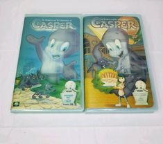 2 VHS Lot Spooktacular New Adventures of Casper Four Funerals and A Wedding Adventures In Odyssey, New Adventures, Kids Cartoon Characters, Cartoon Kids, The Little Mermaid Vhs, Vhs Movie, Classic Cartoons, Movie Collection, Tv Videos
