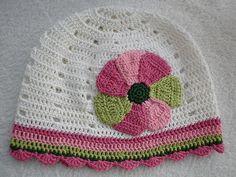 Crochet Cap-big flower