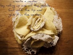 fabric and lace flowers for gifts | make handmade, crochet, craft