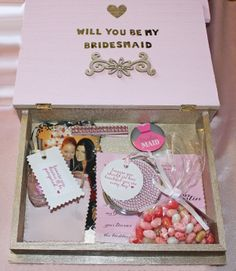 Will You Be My Bridesmaid Box - a fun, DIY, creative and personal way to ask your bridesmaids and maid of honor to be a part of your wedding party!