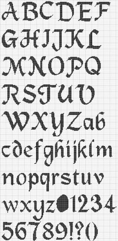 Free Alphabet Cross Stitch Chart