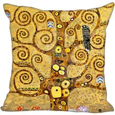 Hot Sale Gustav Klimt The Kiss Square Pillowcase Custom Zippered Cushion Pillow Cover Case Custom Pillow Cases, Decorative Pillow Cases, Throw Pillow Cases, Throw Pillows, Gustav Klimt, Cushion Covers, Pillow Covers, Textiles, Home Textile