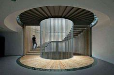 Ideas Spiral Stairs Architecture Modern For 2019 Architecture Design, Stairs Architecture, Amazing Architecture, Museum Architecture, Chinese Architecture, Futuristic Architecture, Design Hotel, House Design, Escalier Design