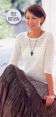 Crochet Lace Sweater Free Pattern