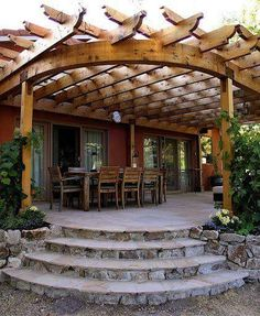 The pergola you choose will probably set the tone for your outdoor living space, so you will want to choose a pergola that matches your personal style as closely as possible. The style and design of your PerGola are based on personal Curved Pergola, Pergola Ideas, Pergola Kits, Patio Ideas, Pergola Lighting, Patio Kits, Cedar Pergola, Attached Pergola, Barns