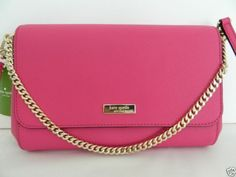 Kate Spade Greer Newbury Lane Leather Crossbody Shoulder Bag Clutch Pink Fuschia #katespade #MessengerCrossBody