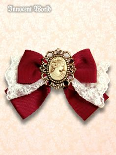 Innocent World Cameo Bow with Lace  I could make one of these, or something similar.