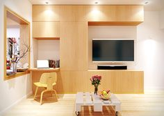 Brightness and dynamism at their fullest in a tiny apartment