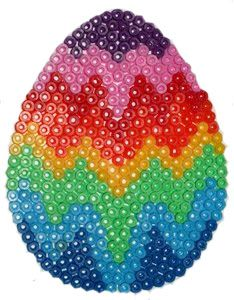 oeuf de Pâques /hama bead designs for egg peg board
