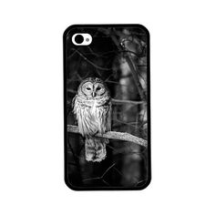 Phone Case Owl Photo Hard Case for iPhone 4 4s 5 5s by ebonypaws