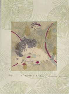 Gravures & Estampes | Atsuko Ishii | a rainbow ribbon | Tirage d'art en série limitée sur L'oeil ouvert Rainbow Ribbon, Artist, Artwork, Etchings, Prints, Open Set, Work Of Art, Artists