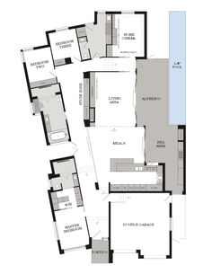 Weeks building group offering unique design and construction for Custom Home Builders Adelaide. New House Plans, Dream House Plans, Modern House Plans, House Floor Plans, Custom Home Designs, Cool House Designs, Modern House Design, Custom Design, Luxury Floor Plans