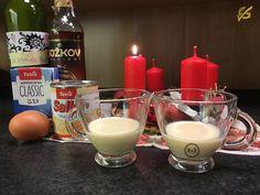 Domácí vaječný likér | Vaječňák | Rodinný recept | Udělej si sám | Pití Samos, Gluten Free Recipes, Fondue, Free Food, Glass Of Milk, Food And Drink, Pudding, Drinks, Ethnic Recipes