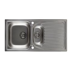 Astracast Alto 1.5 Bowl Stainless Steel Sink & Drainer | Departments | DIY at B&Q