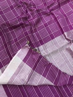 🦋🍁 Summer Cool Fabric Of Pure Leninsilk Sarees With small Checks Design .Blouse running🍁🦋 Order what's app 7995736811 Cool Fabric, Wardrobes, Sarees, App, Pure Products, Running, Clothes For Women, Store, Blouse