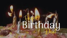 A background video of a delicious Birthday cake and lighted candles. Happy Birthday Dad, Dad Birthday Card, Birthday Cake, Birthday Candles, Templates, Cards, Birthday Cakes, Stencils, Template