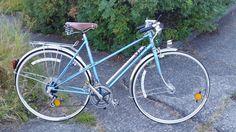 Peugeot UE18 bicycle vintage, Touring bike, blue metalic, Mixte #Peugeot