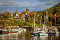 Autumn morning in the Camden harbor, Camden Maine, USA. © Brian Jannsen Photography