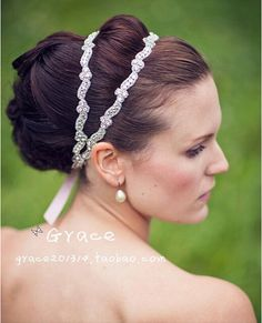 19.64$  Watch here - http://vichh.justgood.pw/vig/item.php?t=2lilia11266 - Fashion handmade crystal bridal double headbands wedding woman hair accessorie