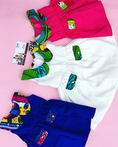 African print girls dresses by BAYABS. Find us on Instagram: @bayabsgh_kids And Facebook: BAYABS. Whatsapp us on +233208404882. Worldwide shipping Ankara Styles For Kids, African Dresses For Kids, African Babies, African Children, African Print Pants, African Print Fashion, Baby Girl Fashion, Kids Fashion, Toddler Outfits
