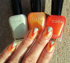 Concrete and Nail Polish: Simple Geometric Nail Art With Zoya