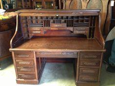 Large Roll Top Desk - Home Furniture Design