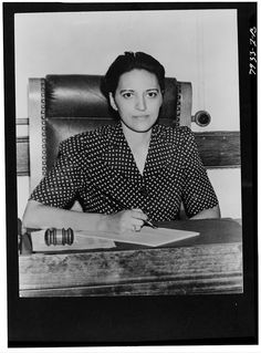 Jane Bolin ~ the first black woman on a court bench (1939). She attended Wellesley College and was the first black female to graduate from Yale Law School in 1931. I'm in awe.